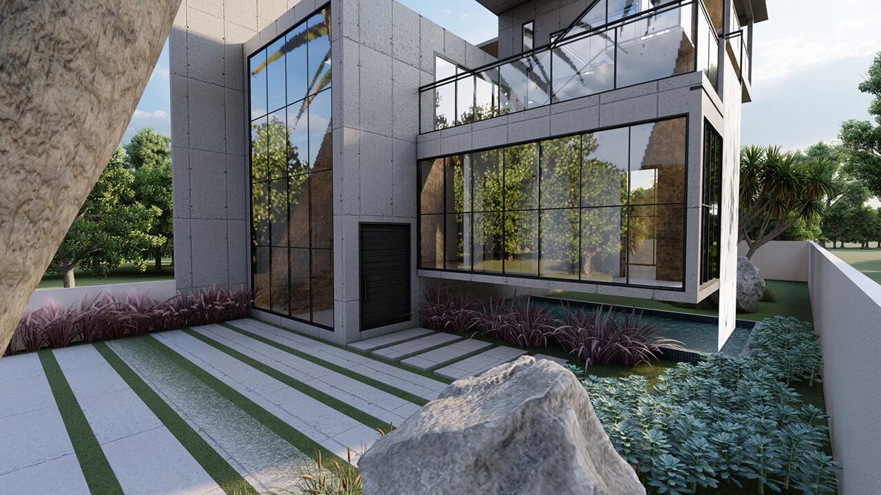 casa de concreto