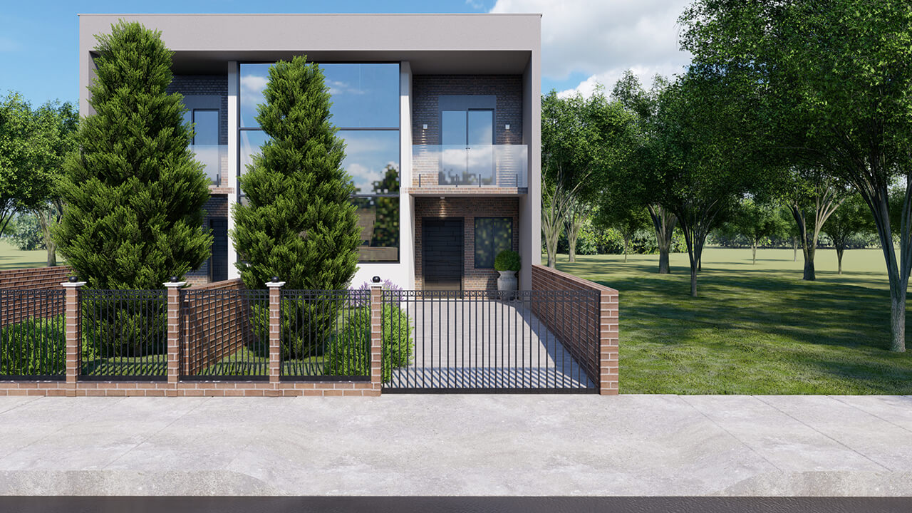 projeto de casa geminada